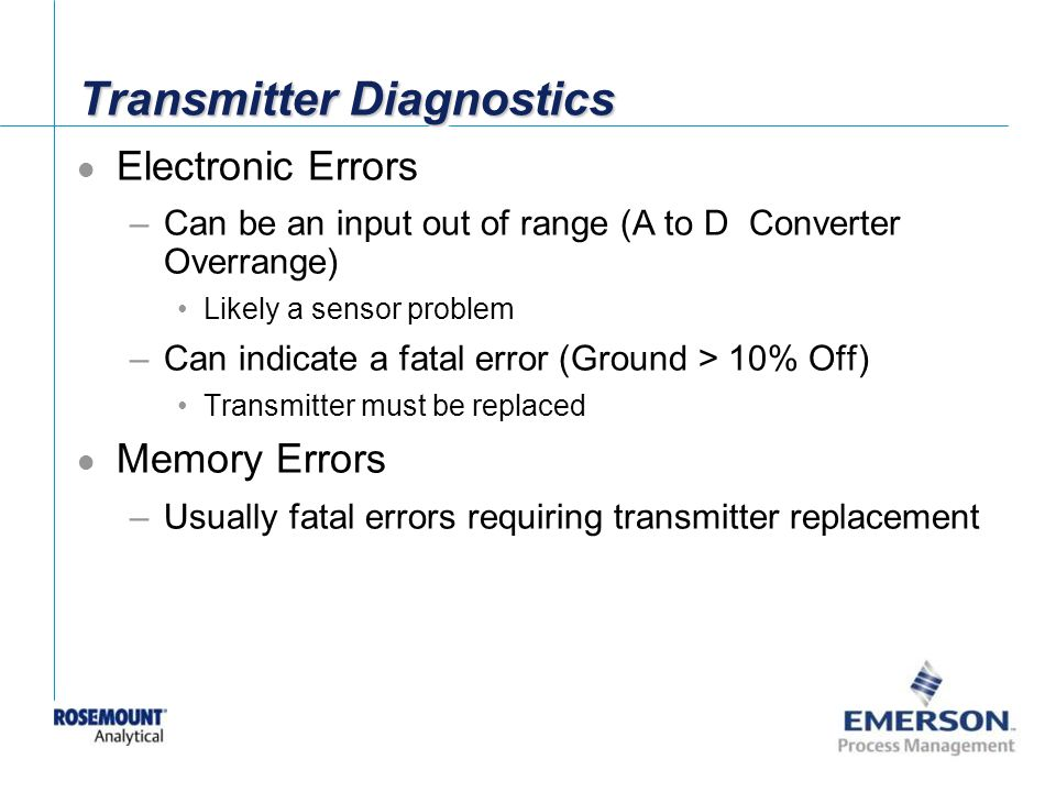 Transmitter Diagnostics