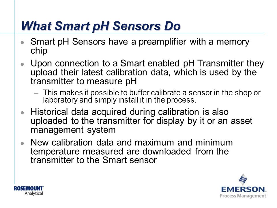 What Smart pH Sensors Do