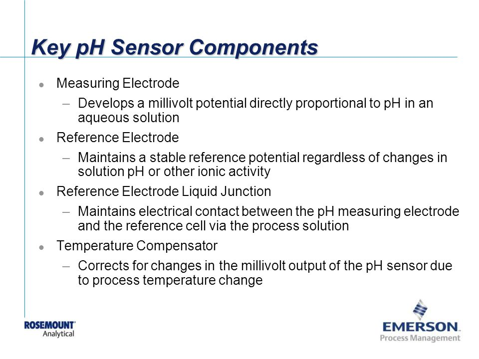 Key pH Sensor Components