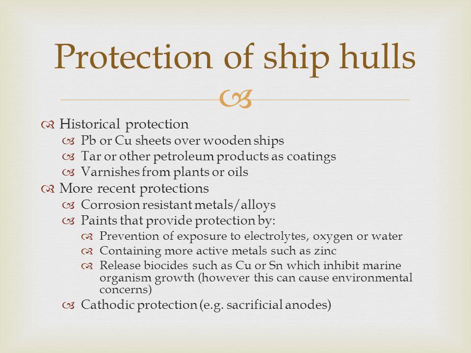 Protection of ship hulls
