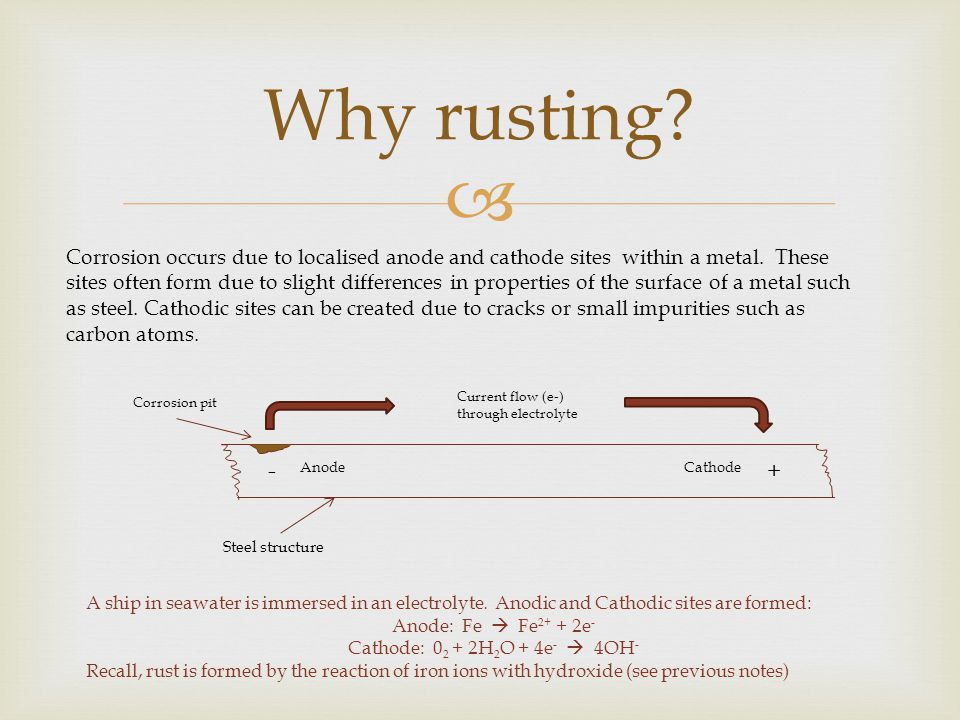 Why rusting