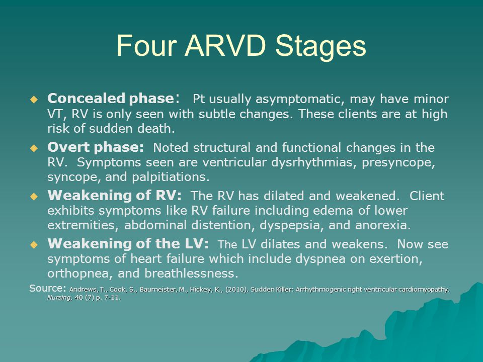 Four ARVD Stages