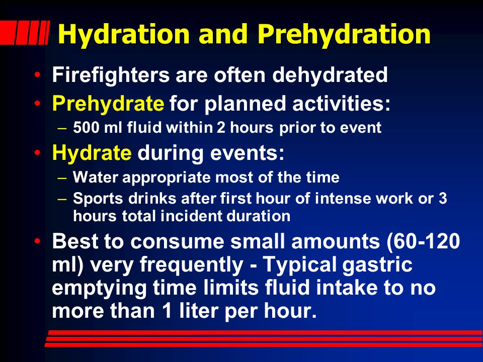 Hydration and Prehydration