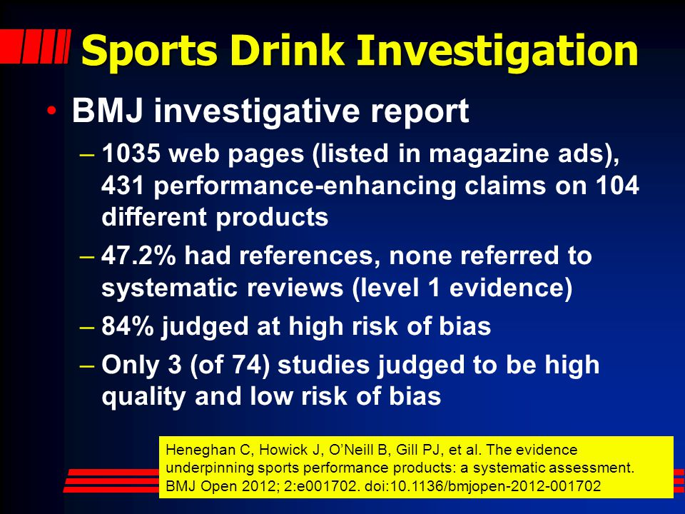 Sports Drink Investigation