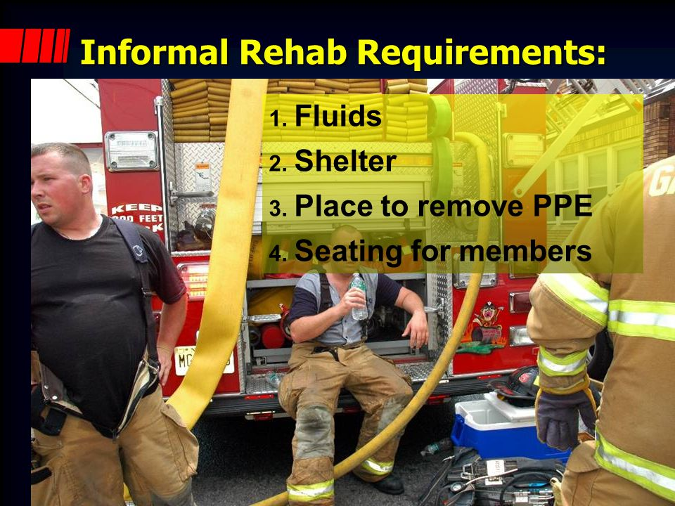 Informal Rehab Requirements: