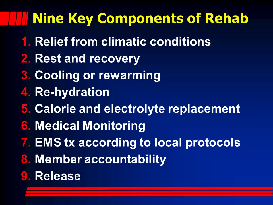 Nine Key Components of Rehab