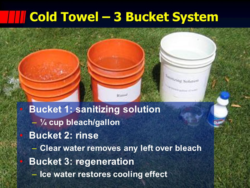 Cold Towel – 3 Bucket System