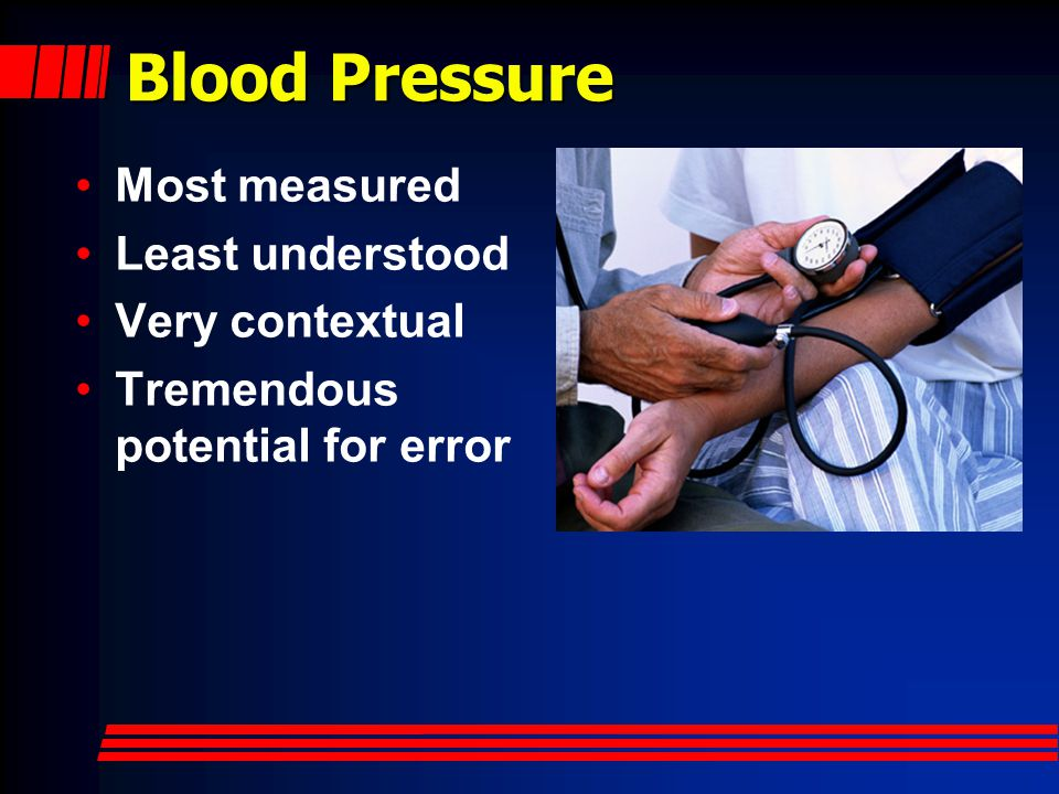 Blood Pressure Most measured Least understood Very contextual