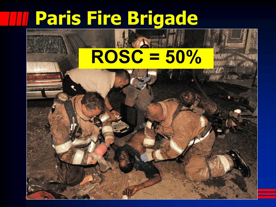 Paris Fire Brigade ROSC = 50%