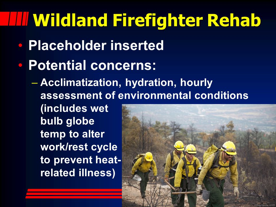 Wildland Firefighter Rehab