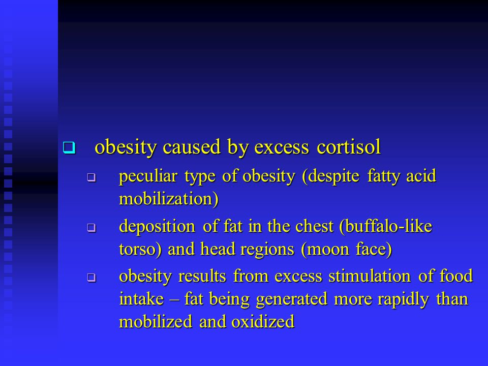 obesity caused by excess cortisol