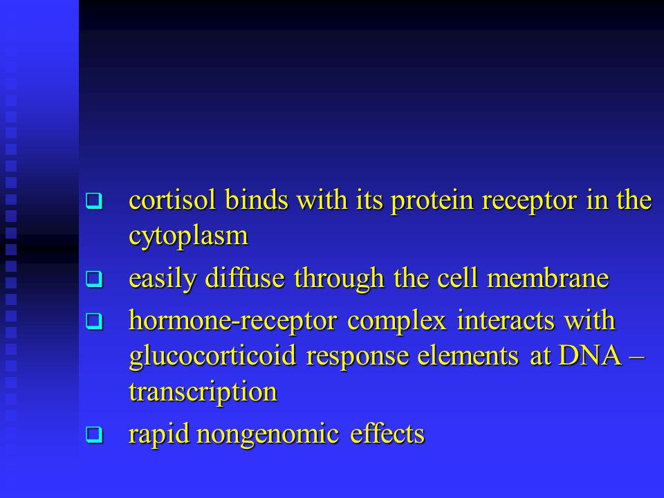 cortisol binds with its protein receptor in the cytoplasm
