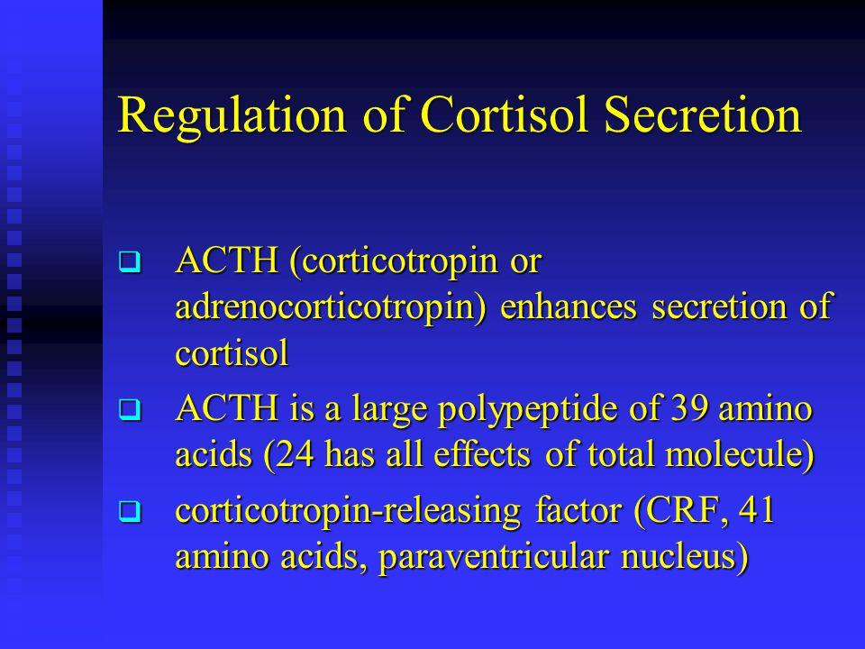 Regulation of Cortisol Secretion
