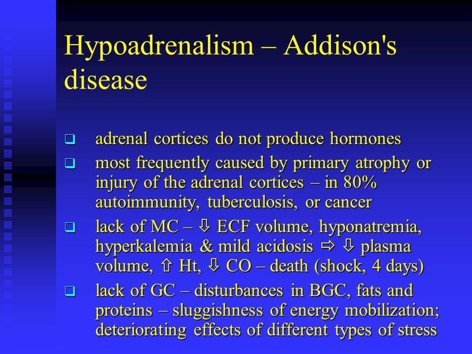 Hypoadrenalism – Addison s disease