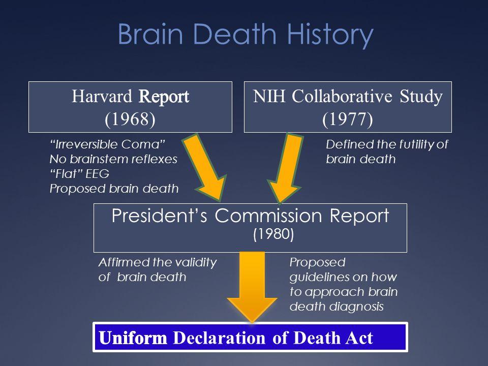 Brain Death History Harvard Report (1968) NIH Collaborative Study