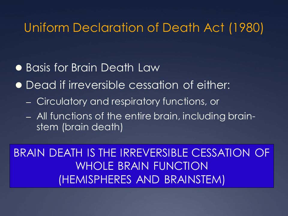 Uniform Declaration of Death Act (1980)