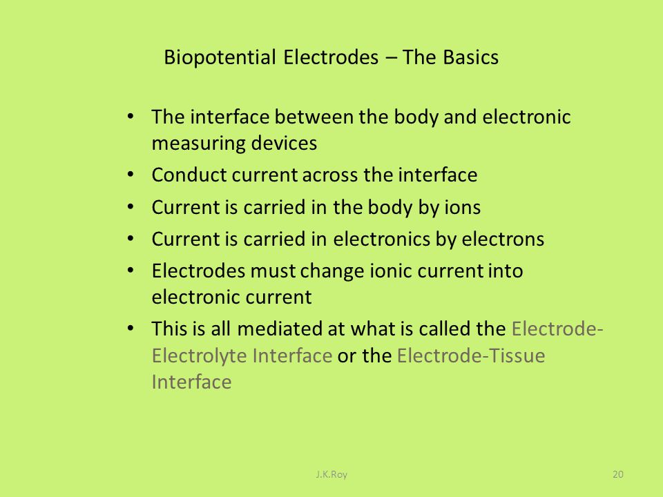 Biopotential Electrodes – The Basics