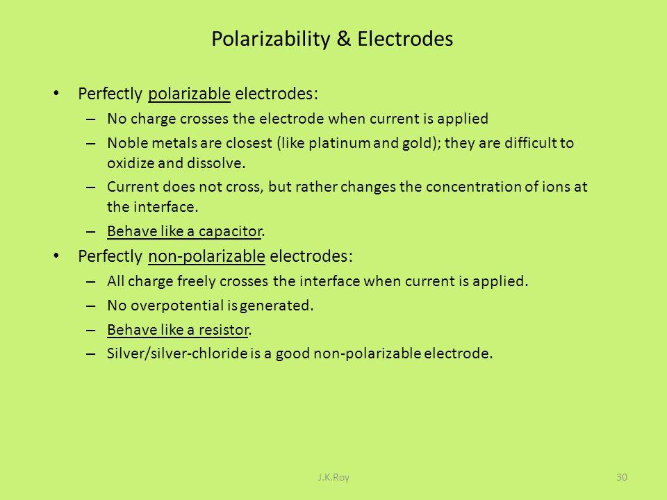 Polarizability & Electrodes