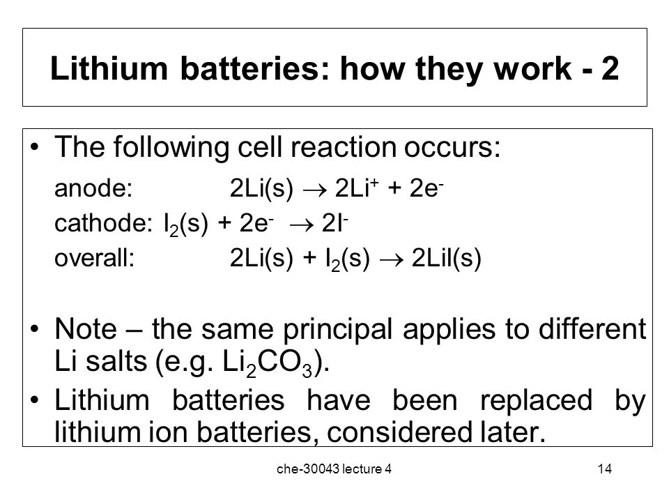 Lithium batteries: how they work - 2