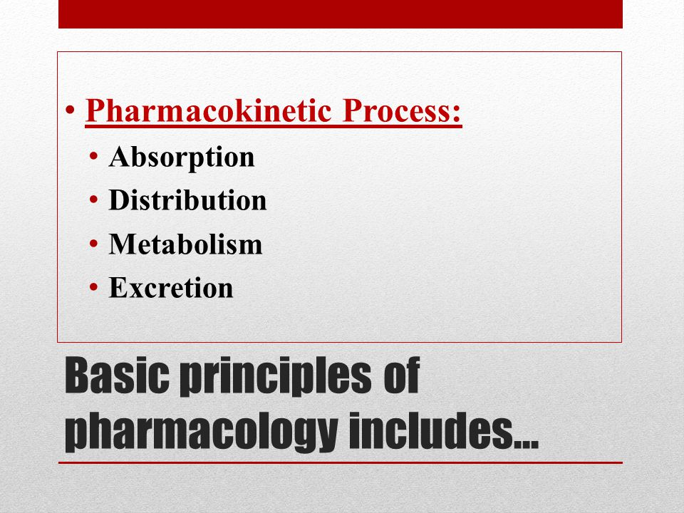Basic principles of pharmacology includes…