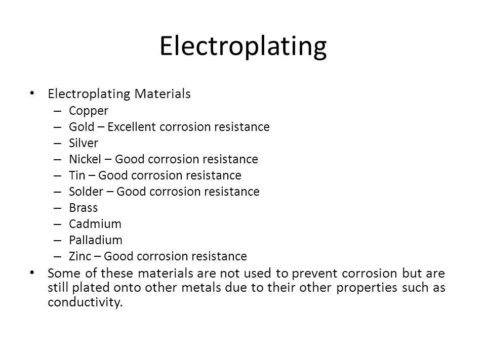 Electroplating Electroplating Materials
