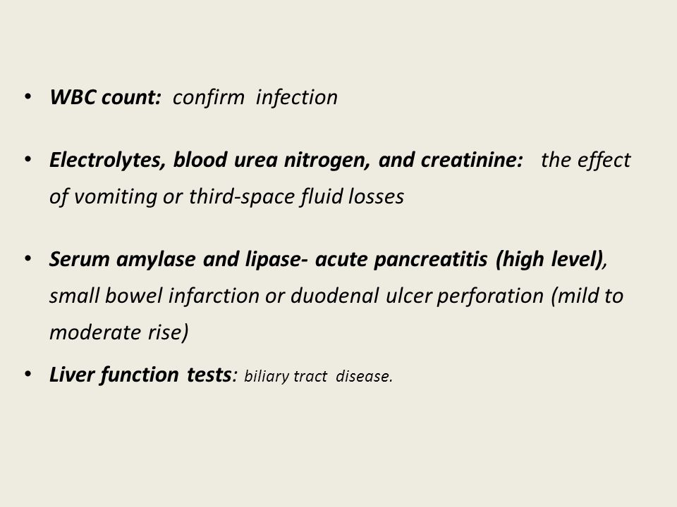WBC count: confirm infection