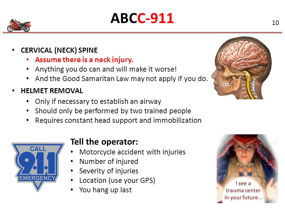 ABCC-911 Tell the operator: CERVICAL (NECK) SPINE