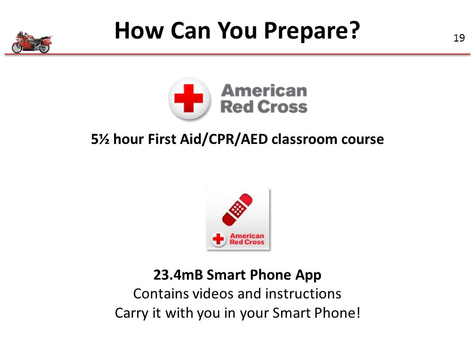 5½ hour First Aid/CPR/AED classroom course