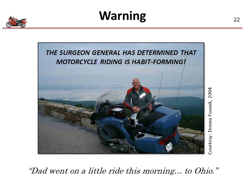 Dad went on a little ride this morning… to Ohio.