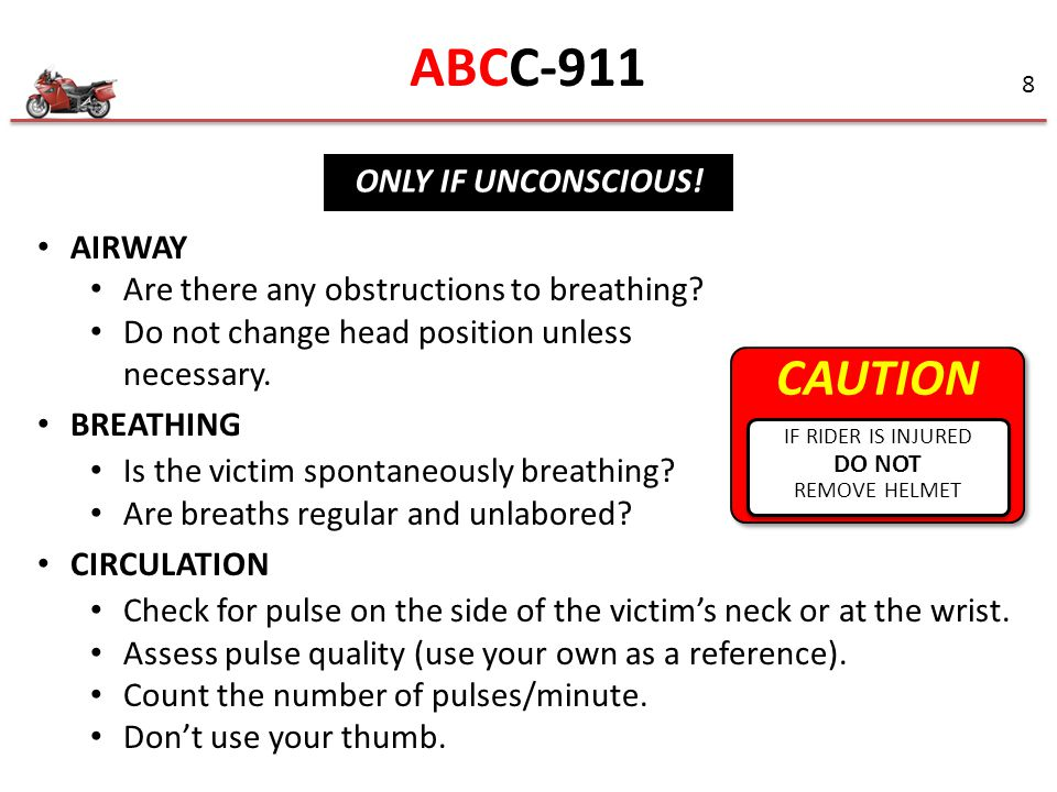 ABCC-911 CAUTION ONLY IF UNCONSCIOUS! AIRWAY