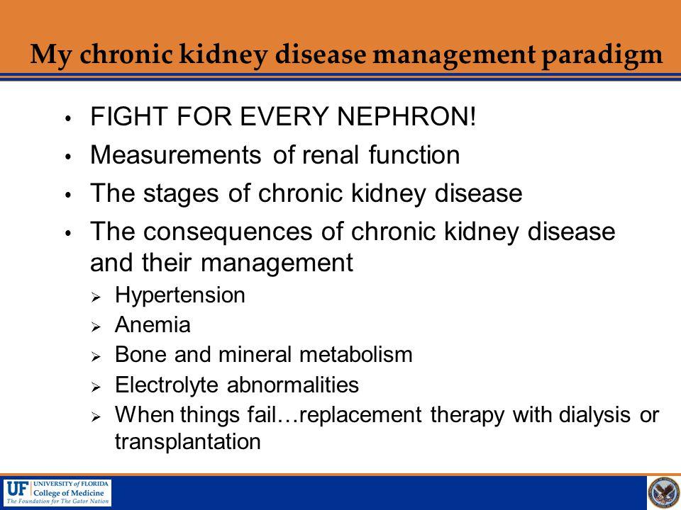 My chronic kidney disease management paradigm