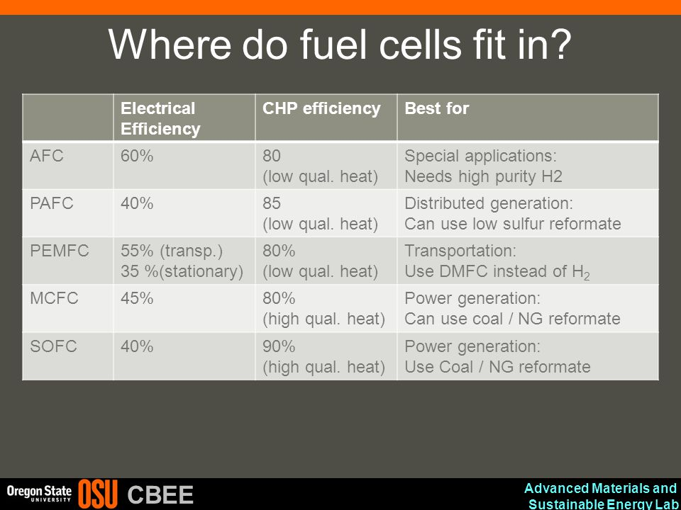 Where do fuel cells fit in