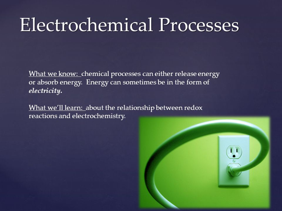 Electrochemical Processes