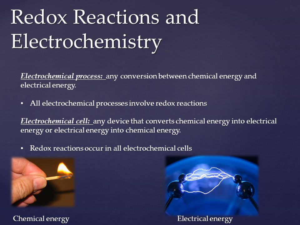 Redox Reactions and Electrochemistry