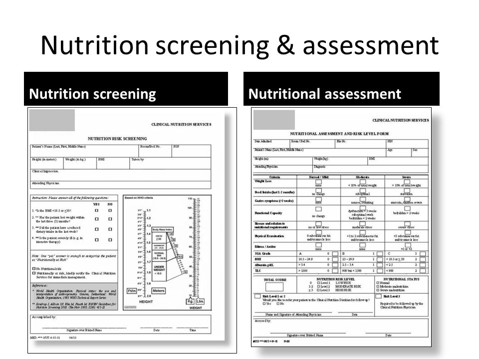 Nutrition screening & assessment