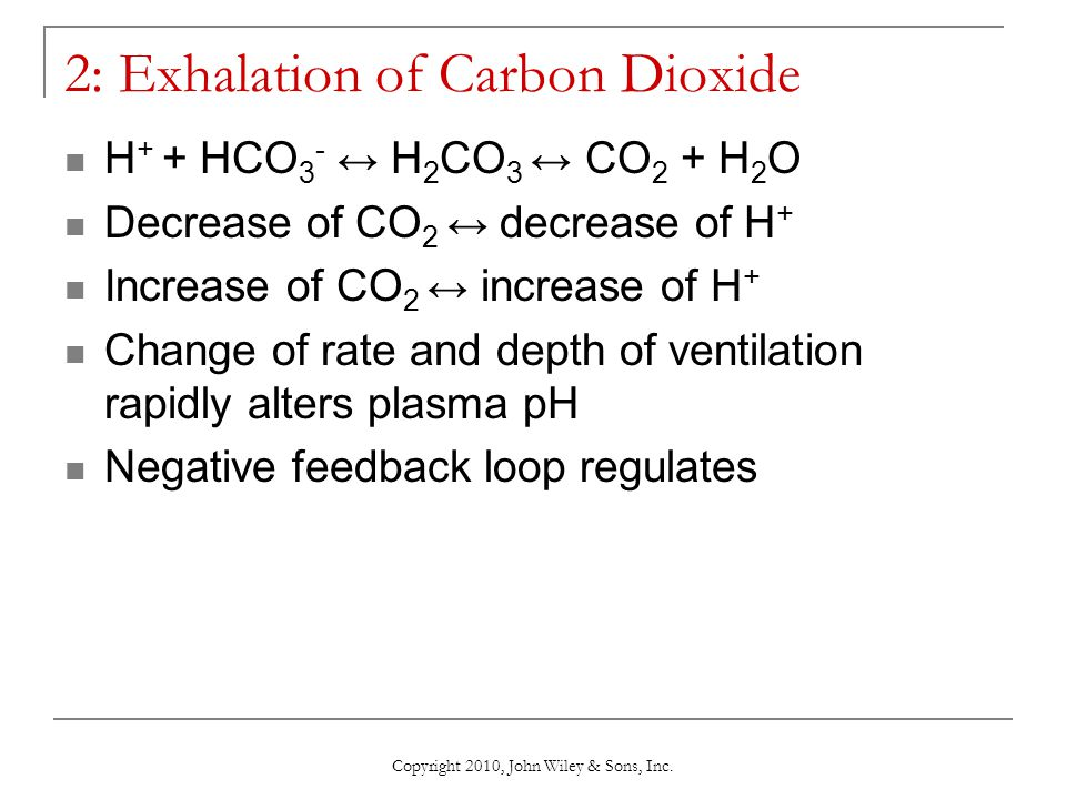 2: Exhalation of Carbon Dioxide