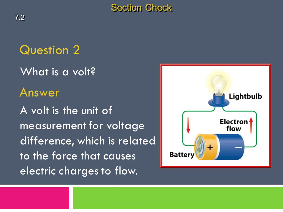 Question 2 Answer What is a volt