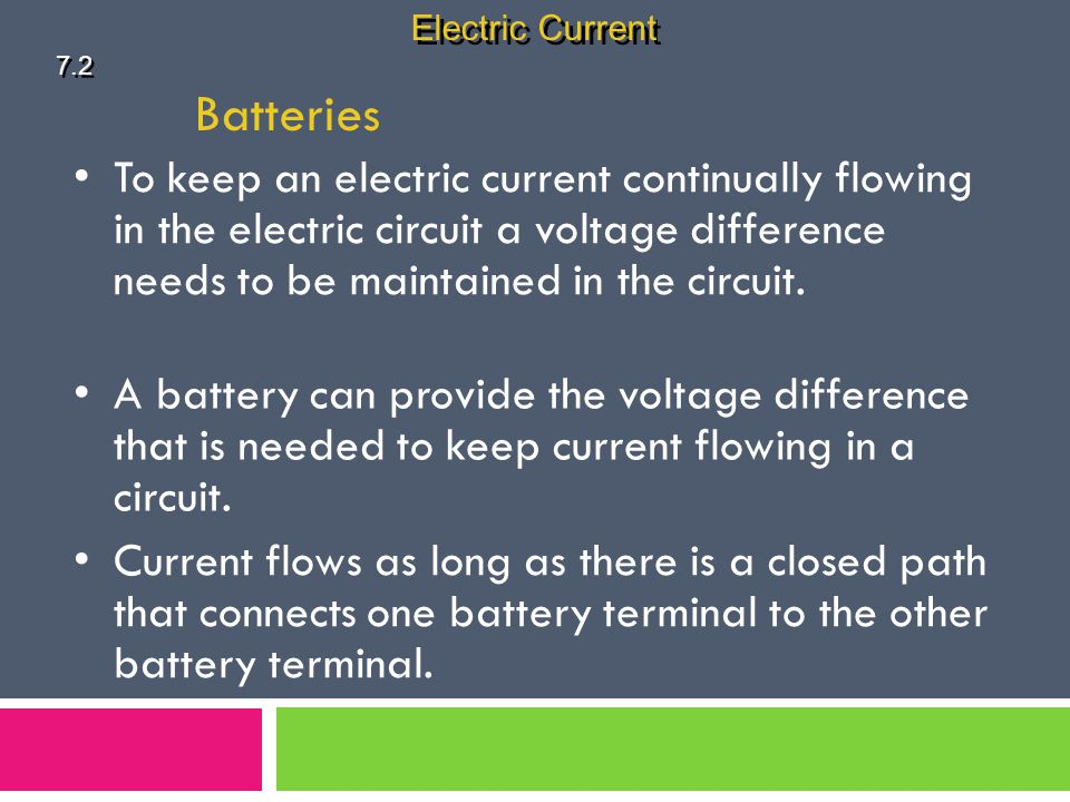 Electric Current 7.2. Batteries.