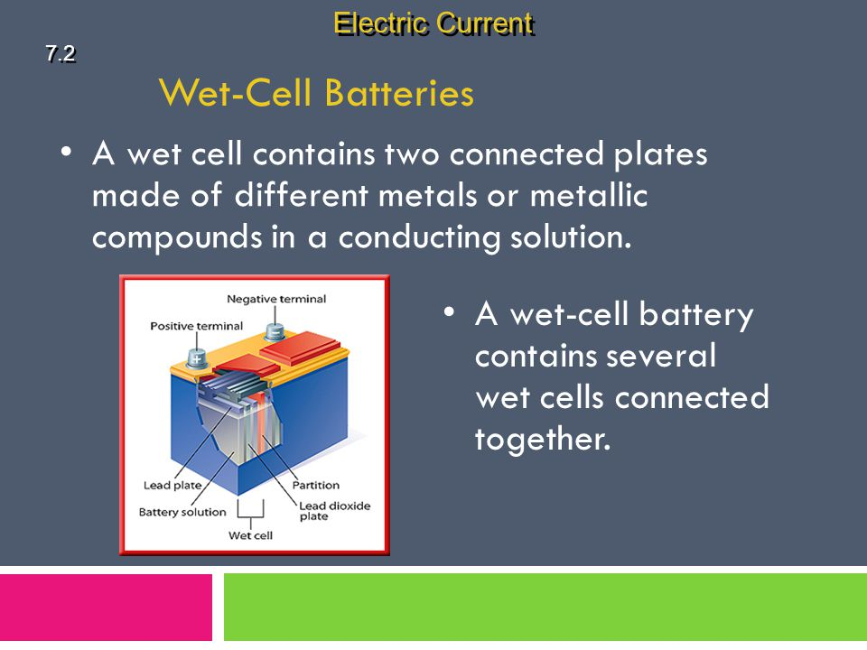 Electric Current 7.2. Wet-Cell Batteries.