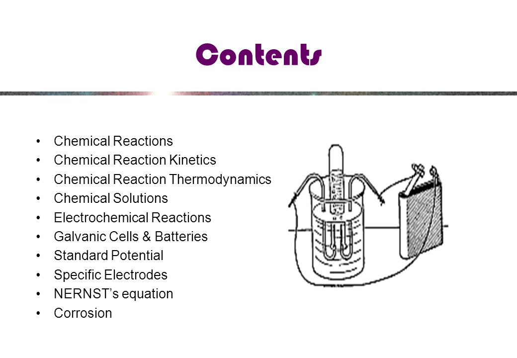 Contents Chemical Reactions Chemical Reaction Kinetics