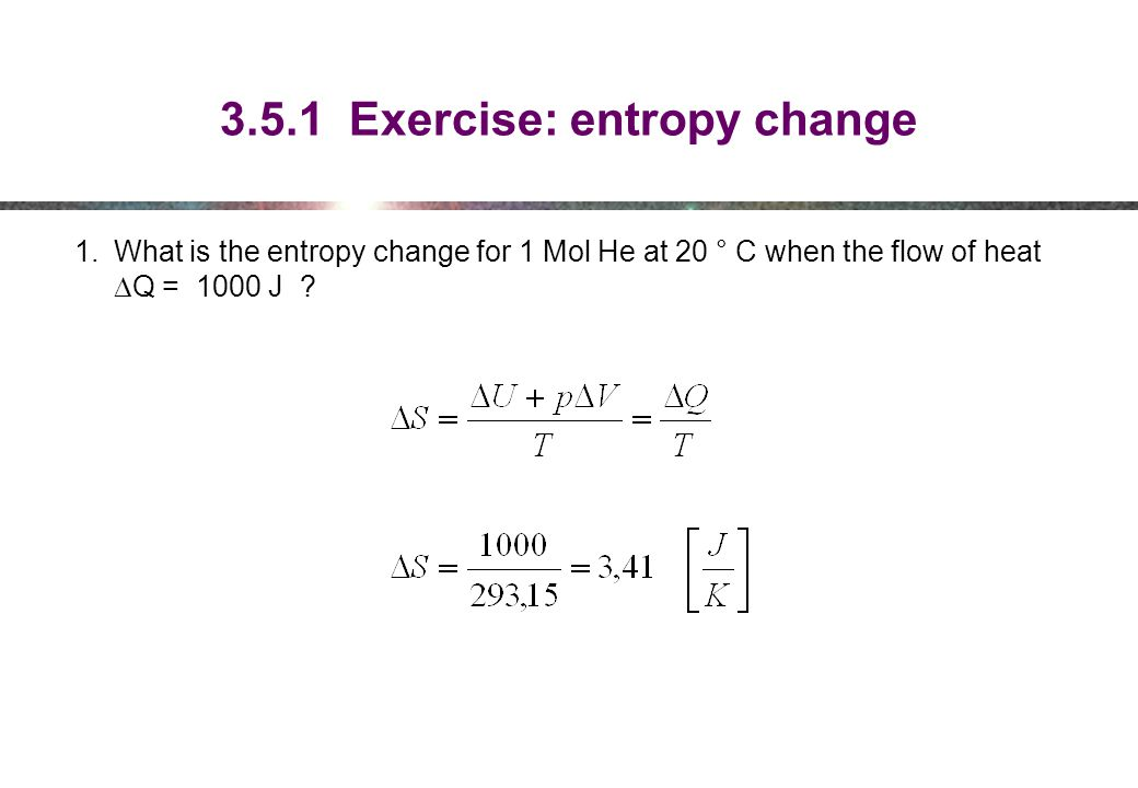 3.5.1 Exercise: entropy change