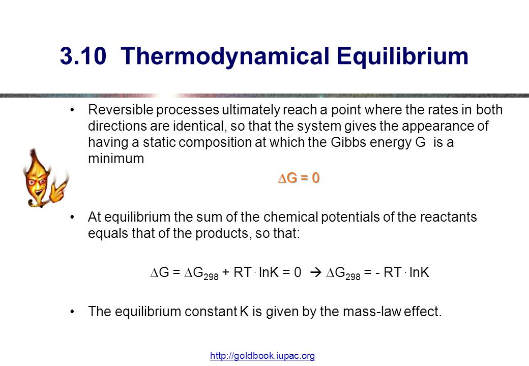 3.10 Thermodynamical Equilibrium