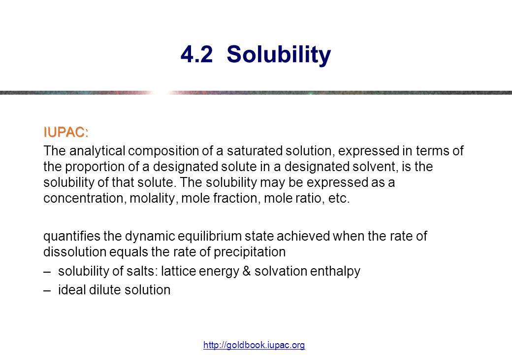 4.2 Solubility IUPAC: