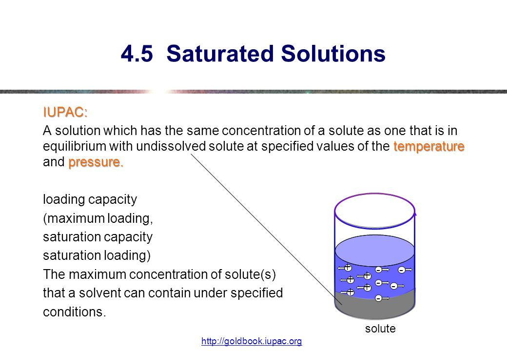 4.5 Saturated Solutions