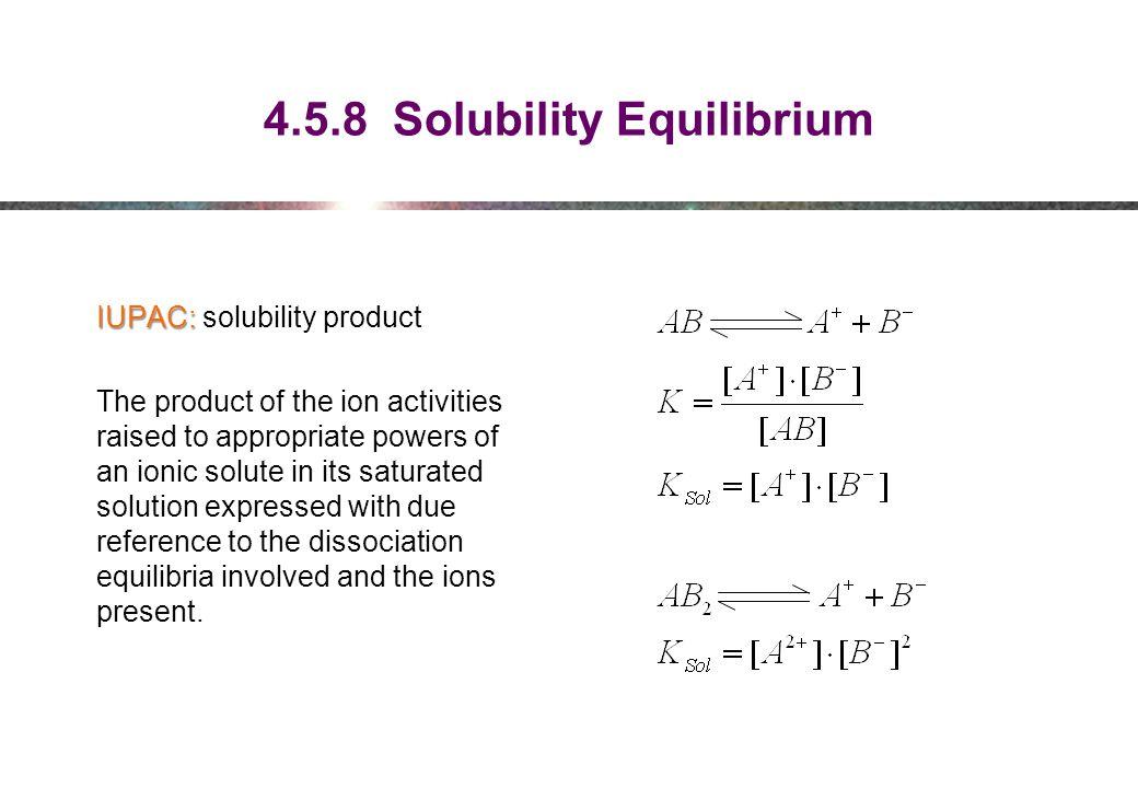 4.5.8 Solubility Equilibrium