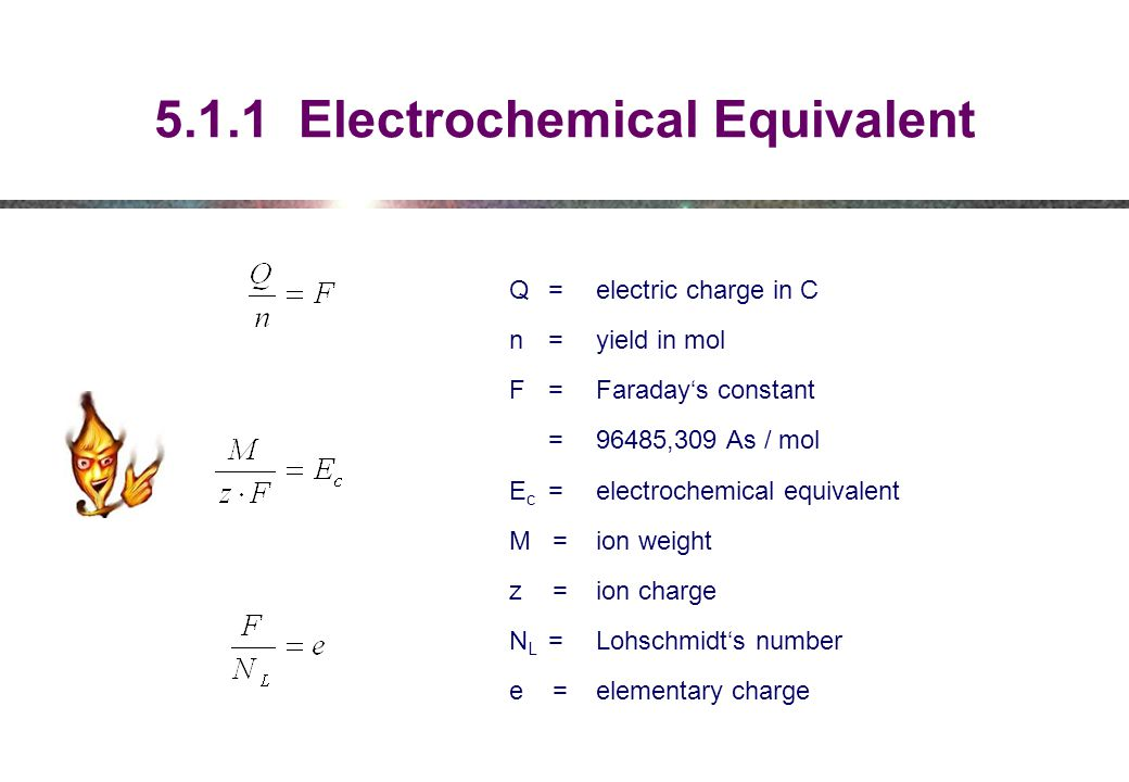 5.1.1 Electrochemical Equivalent