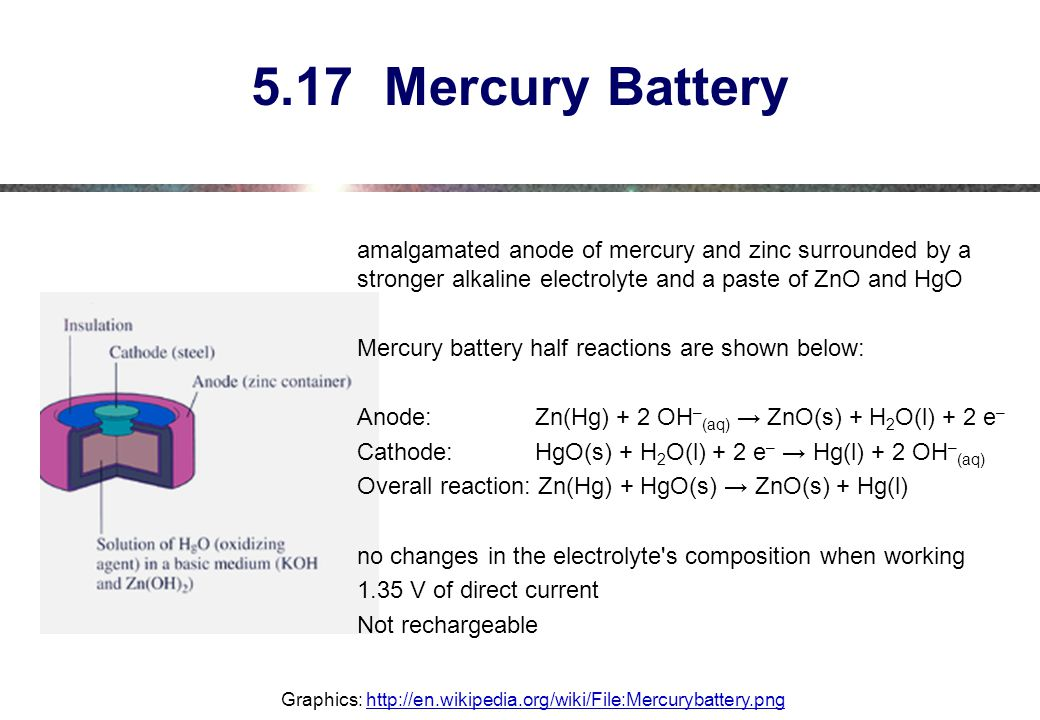 5.17 Mercury Battery