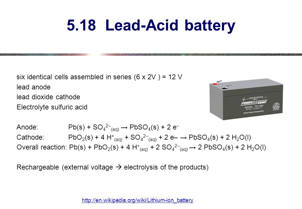5.18 Lead-Acid battery