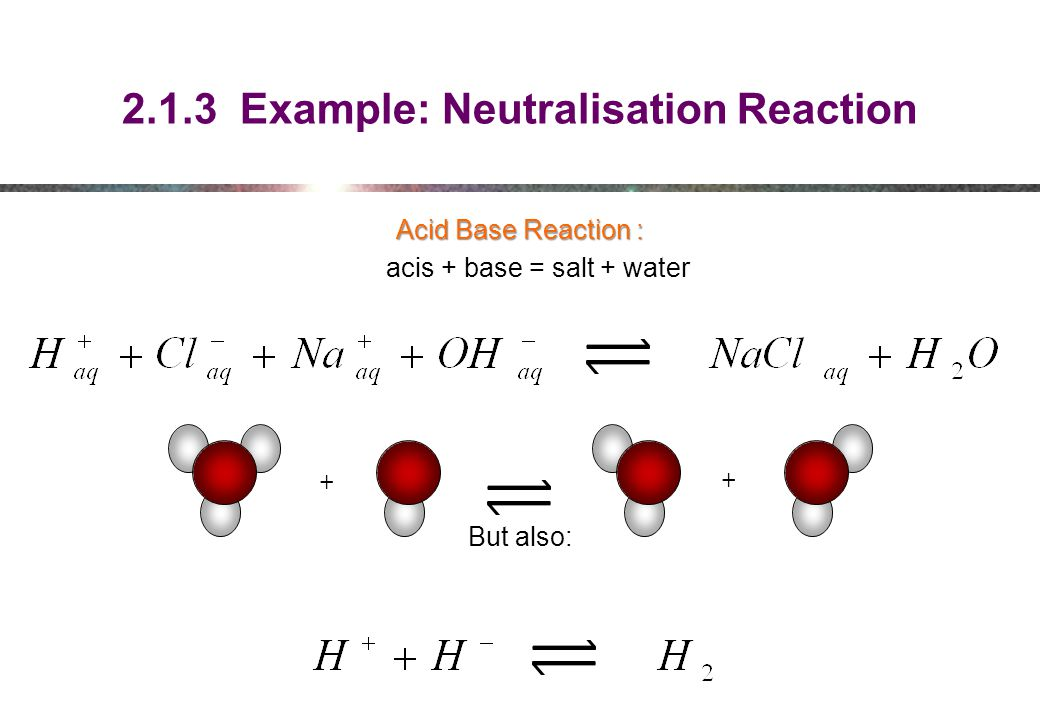 2.1.3 Example: Neutralisation Reaction