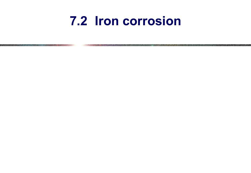 7.2 Iron corrosion